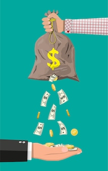 Borsa per soldi con foro. assicurazione aziendale