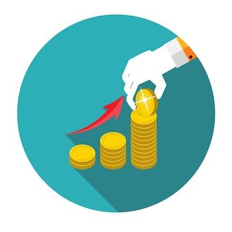 Illustrazione piana di vettore di concetto di progettazione dei soldi. eps10