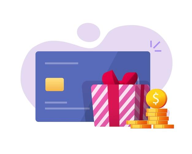 Ricompensa bonus regalo in denaro come rimborso sulla carta di credito bancaria