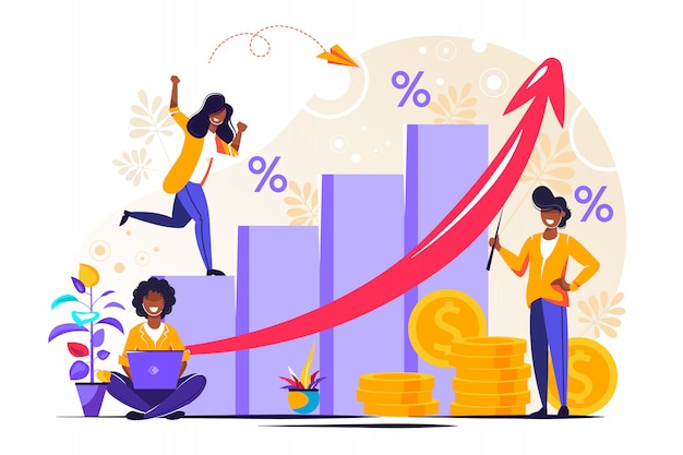 Previsione di crescita del denaro e rapporto sullo stato di avanzamento