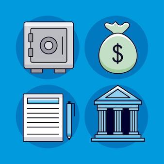 Collezione di icone di denaro