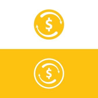 Illustrazione di vettore delle icone dei soldi. illustrazione astratta e vettore dell'icona di valuta del dollaro