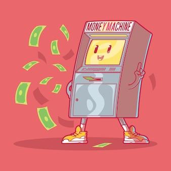 Il concetto di design illustrazione money machine