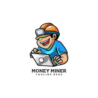 Denaro minatore bit moneta moneta valuta d'oro digitale