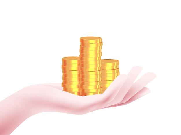 Illustrazione gratificante dei soldi Vettore Premium