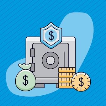 Cassaforte dei soldi con le icone