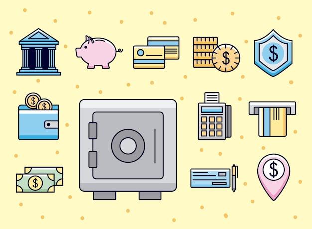 Set di simboli di denaro