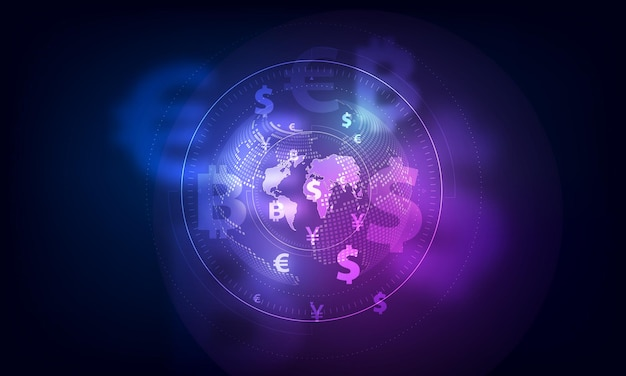 Trasferimento di denaro. valuta globale