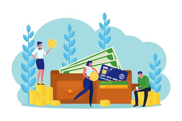 Trasferimento di denaro con portafoglio digitale. cashback.