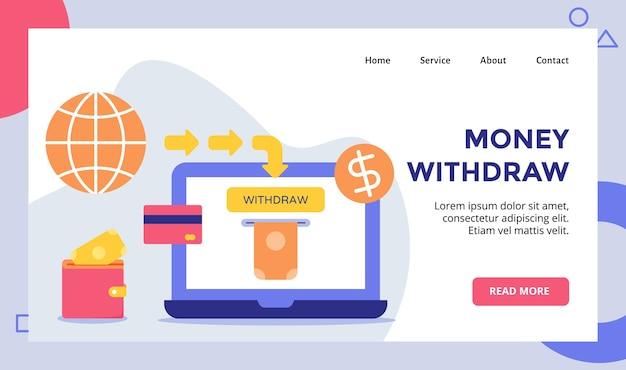 Prelievo di denaro per il sito web