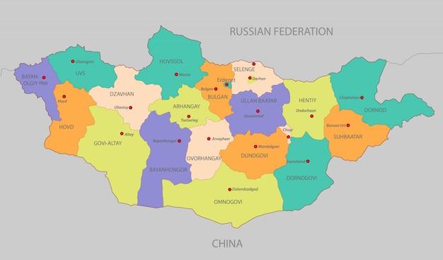 Mappa della mongolia