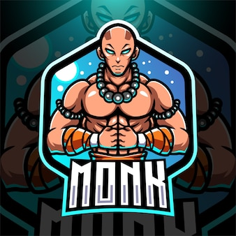 Monk esport mascotte logo design