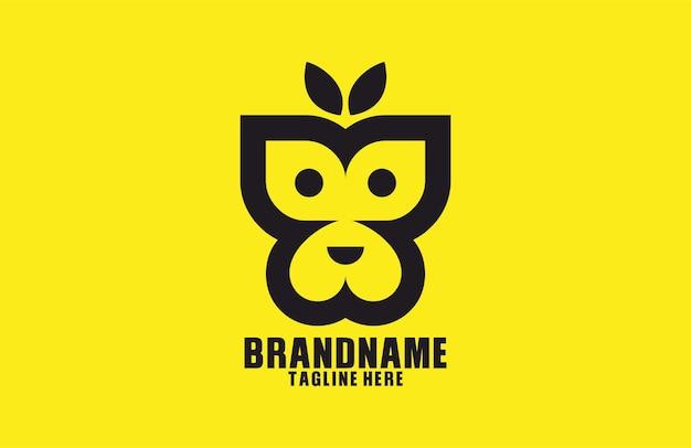 Scimmia farfalla moderna logo