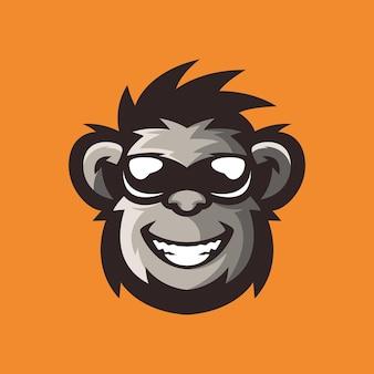 La scimmia cool logo design