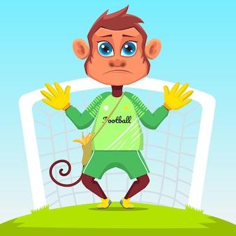 Scimmia giocatore di football