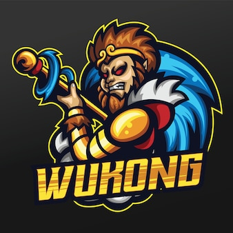 Monkey king mascot sport illustration design