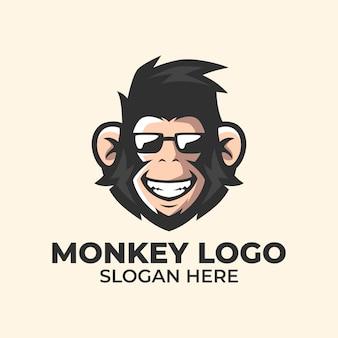 Modello di logo di scimmia