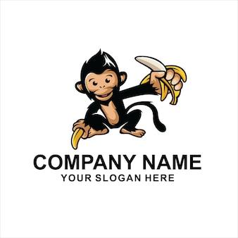 Vettore di logo di scimmia
