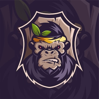 Disegno della mascotte della scimmia