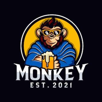 Disegno del logo mascotte scimmia