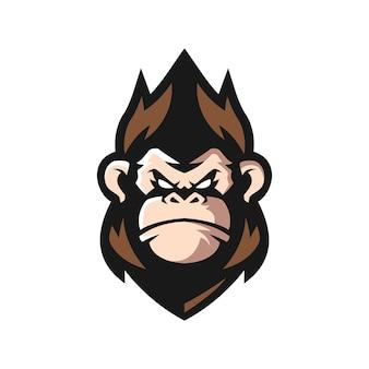 Logo della mascotte della scimmia