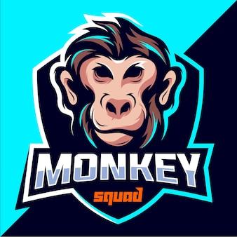 Design del logo esport di monkey squad