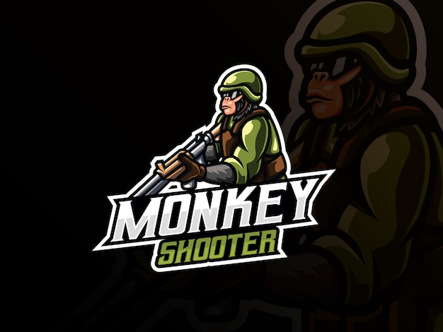 Illustrazione di vettore della mascotte del guerriero scimmia
