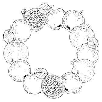 Cornice a tema frutta monocromatica