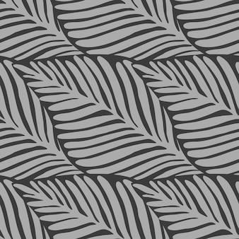 Modello monocromatico della giungla delle foglie tropicali
