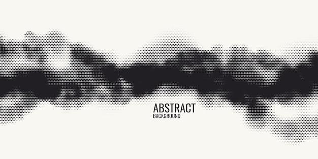 Raster di stampa monocromatica, priorità bassa di semitono di vettore astratto. texture in bianco e nero di punti.