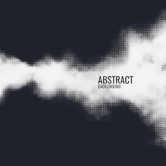 Stampa monocromatica raster vettore astratto mezzitoni sfondo bianco e nero trama di punti