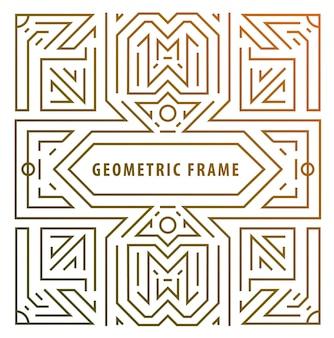 Elementi monogramma in stile trendy vintage e mono con spazio per il testo