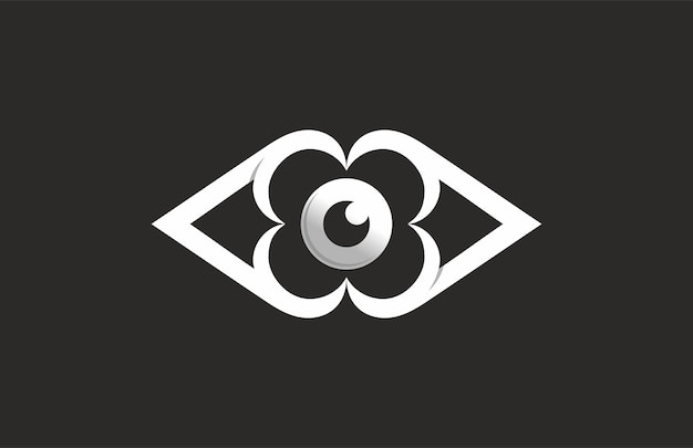 Monogramma fiore occhio logo