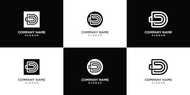 Modello di logo lettera d monogramma