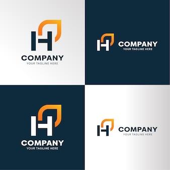Monogramma lettera h. logo premium