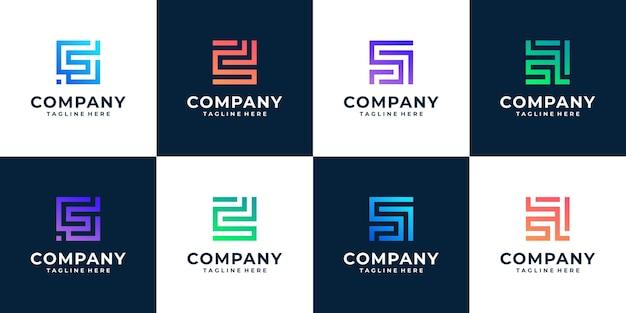 Collezione di modelli di logo iniziale lettera monogramma