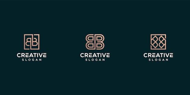 Monogramma logo lettera b logo design