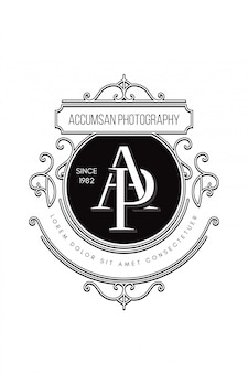 Monogram logo fotografia ap