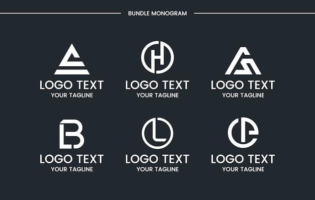 Insieme di marchio del monogramma