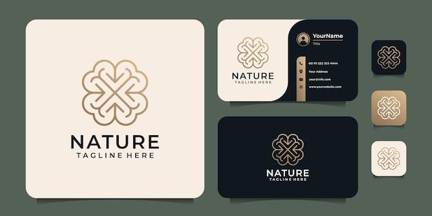 Logo del fiore della natura del monogramma
