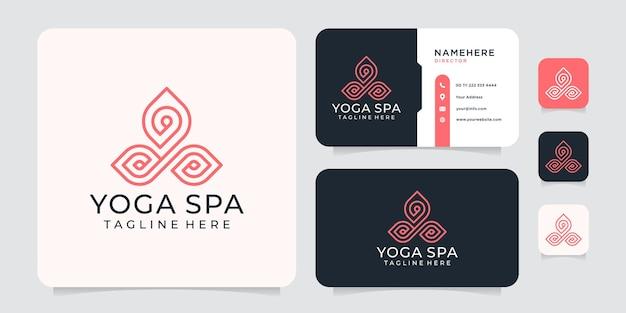 Logo monogramma yoga spa