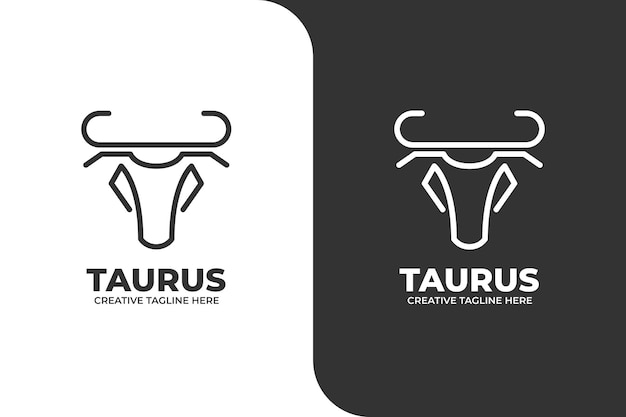 Logo zodiacale toro monolinea