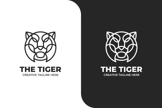 Logo della tigre monolinea