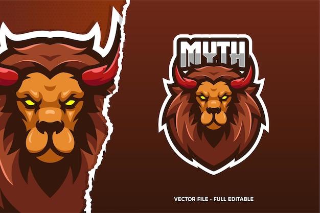Modello di logo del gioco monster animal e-sport