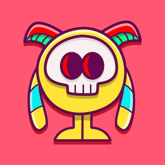Illustrazione del personaggio dei cartoni animati del mostro