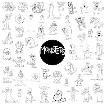 Grande set di personaggi mostruosi