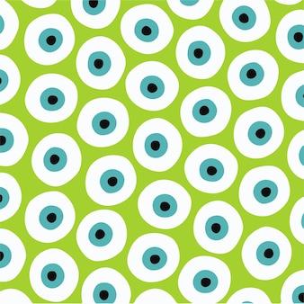 Monster eye pattern backgroud social media post vector illustration