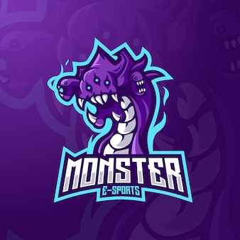 Disegno del logo mascotte mostro