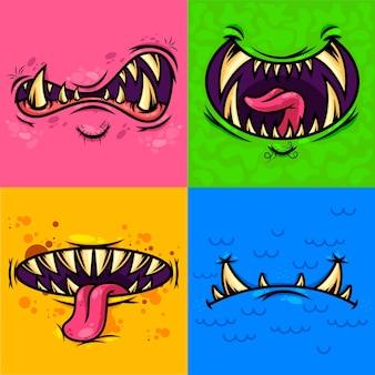 Set di bocca di mostro