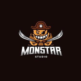 Logo del mostro pirata